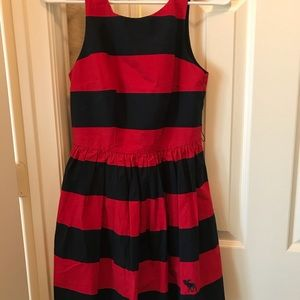 Striped navy and red Abercrombie and Fitch dress